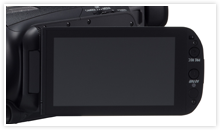 Canon XA20 & XA25 Digital Video Camera Key Feature - OLED Touch Screen