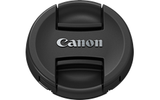 Canon lens cap E-49 front slanted black